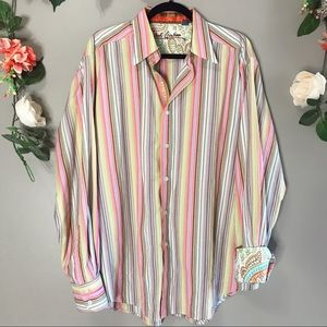 Robert Graham | Rainbow striped button up
